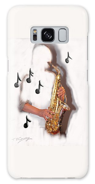 Abstract Saxophone Player Galaxy Case