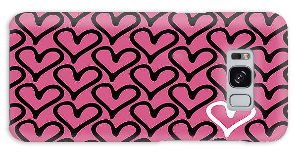 Fashion Plate Galaxy Case - Abstract Seamless Heart Pattern by Ann Volosevich