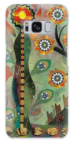 abstract still life painting - Ikebana II Galaxy Case