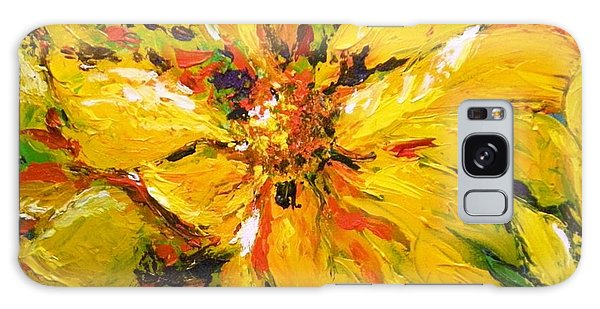 Abstract Sunflower Galaxy Case by Lori Ippolito