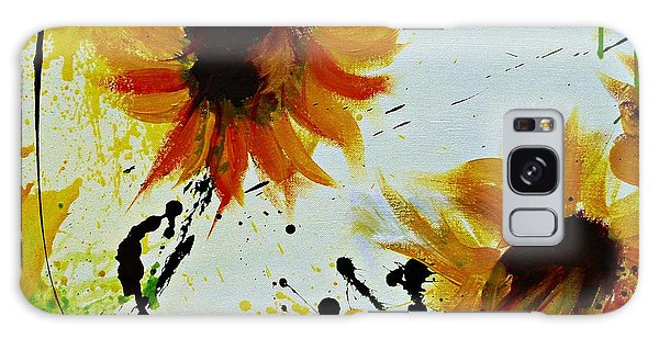 Abstract Sunflowers 2 Galaxy Case by Ismeta Gruenwald