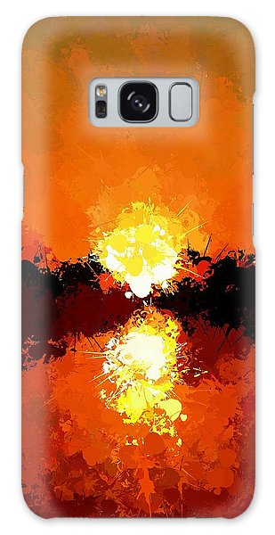 Abstract Sunset On The Sea Galaxy Case