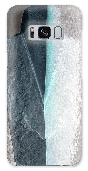 Abstract Teal  Galaxy Case by Sebastian Mathews Szewczyk