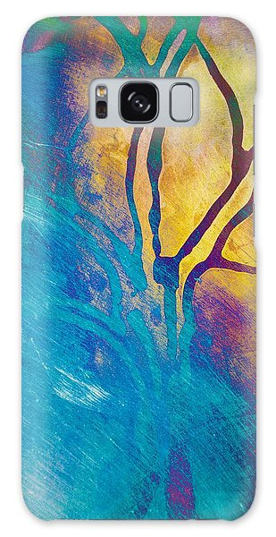 Fire And Ice Abstract Tree Art  Galaxy Case