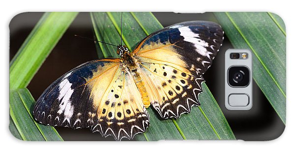 Butterfly On Leaves Galaxy Case