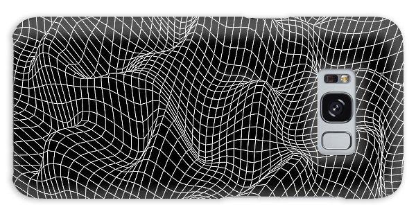 Round Galaxy Case - Abstract Wave Background. Vector Design by Beliavskii Igor
