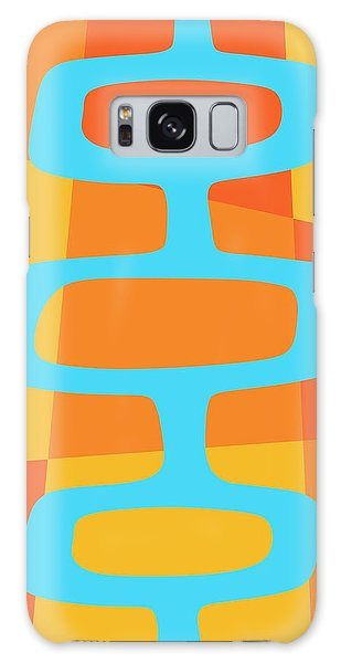 Abstract With Turquoise Pods 3 Galaxy Case