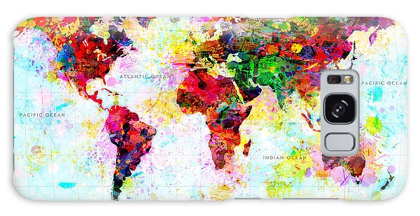 Abstract World Map Galaxy Case