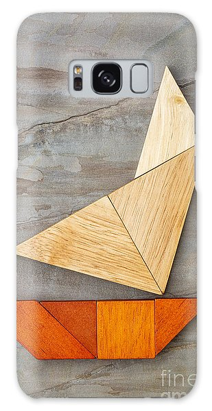 Abstract Yacht From Tangram Puzzle Galaxy Case