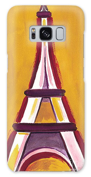 Abstract Yellow Red Eiffel Tower Galaxy Case