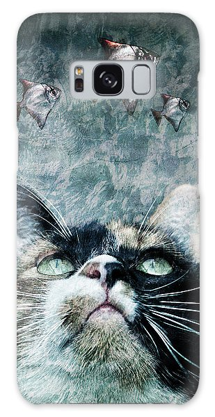 Abyss Cat Nr 2 Galaxy Case by Laura Melis