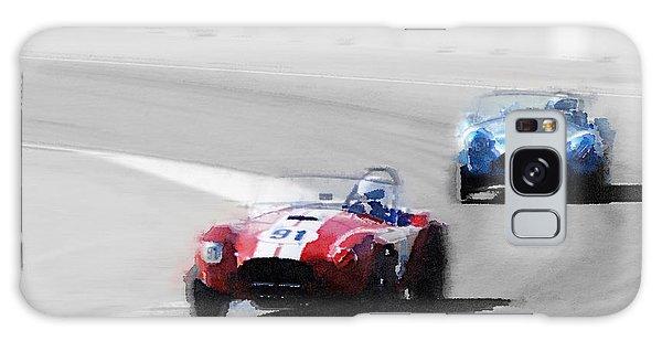 Cobra Galaxy Case - Ac Cobra Racing Monterey Watercolor by Naxart Studio