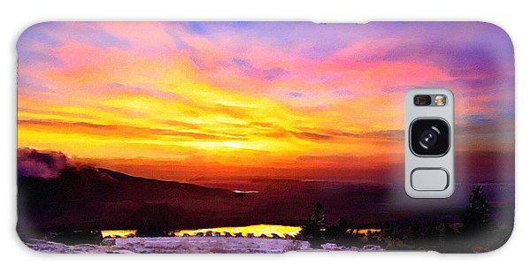 Acadia National Park Cadillac Mountain Sunrise Forsale Galaxy Case