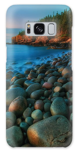 Otter Galaxy Case - Acadian Dawn - Otter Cliffs by T-S Photo Art