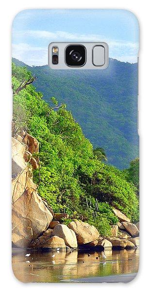 Acapulco Lagoon Galaxy Case