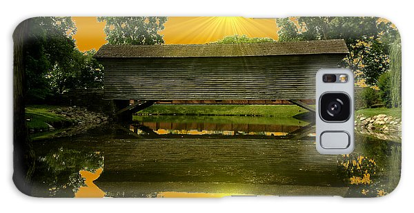 Ackley Covered Bridge Galaxy Case by Michael Rucker