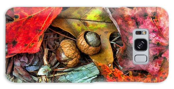 Acorns And Leaves Galaxy Case by Kenny Francis