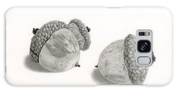 Squirrel Galaxy Case - Acorns- Black And White by Sarah Batalka
