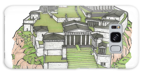 Acropolis Of Athens Restored Galaxy Case by Calvin Durham