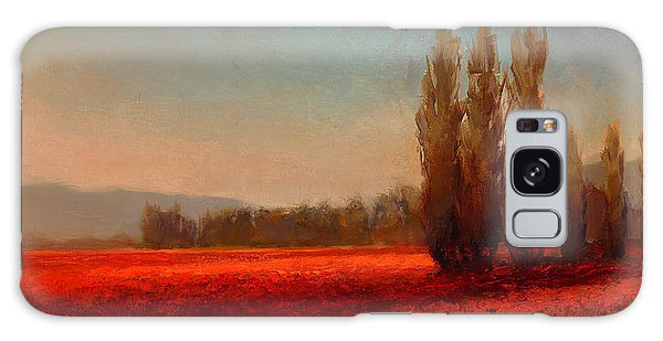 Tree Galaxy Case - Across The Tulip Field - Horizontal Landscape by Karen Whitworth