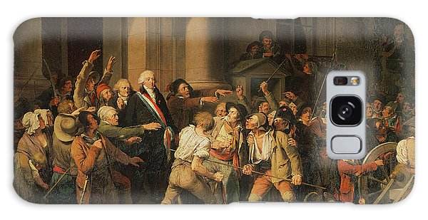 Traits Galaxy Case - Act Of Courage Of Monsieur Defontenay, Mayor Of Rouen, 29th August 1792 Oil On Canvas by Louis Leopold Boilly