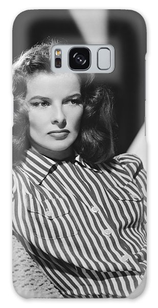 Woman Galaxy Case - Actress Katharine Hepburn by Underwood Archives