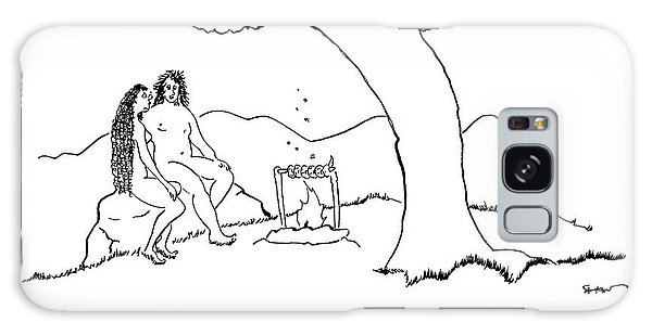 Adam And Eve Sit Under The Forbidden Tree Galaxy Case