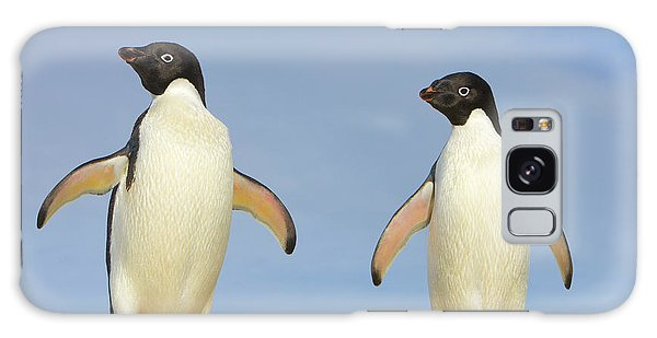 Adelie Penguin Duo Galaxy Case by Yva Momatiuk John Eastcott