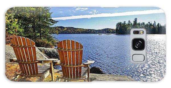 Adirondack Chairs At Lake Shore Galaxy Case