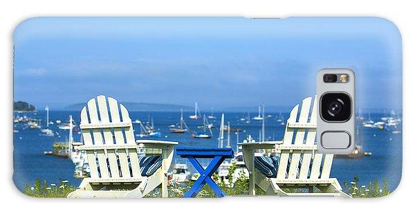 Adirondack Chair Galaxy Case - Adirondack Chairs Overlooking The Ocean by Diane Diederich