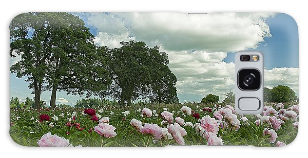 Adleman's Peony Fields Galaxy Case by Nick  Boren