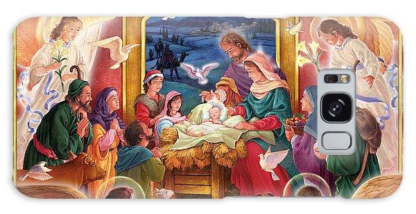 Adoring Angels Nativity Galaxy Case