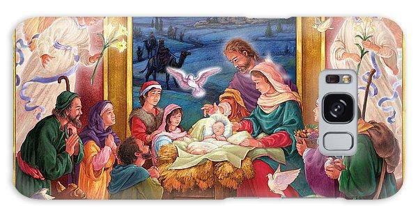Adoring Angels Nativity Square Galaxy Case