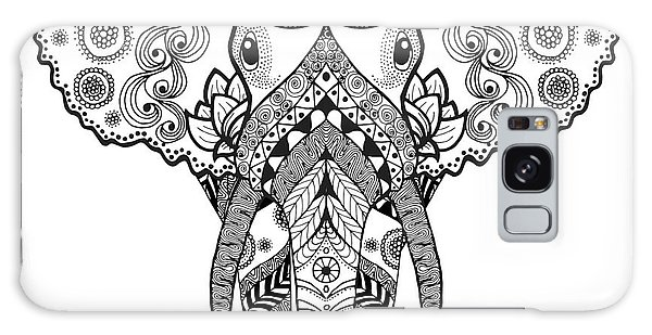 White Galaxy Case - Adult Antistress Coloring Page. Black by Palomita
