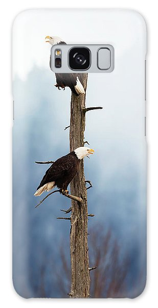 The Eagles Galaxy Case - Adult Bald Eagles  Haliaeetus by Doug Lindstrand