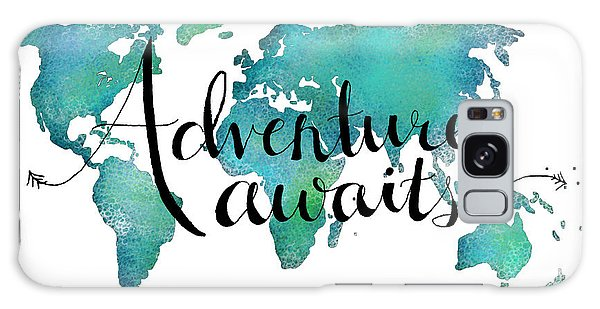 Adventure Awaits - Travel Quote On World Map Galaxy Case