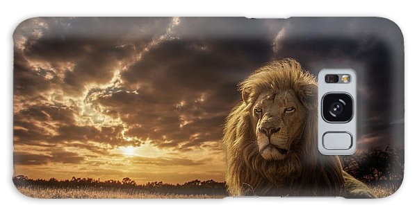 Powerful Galaxy Case - Adventures On Savannah - The Lion King by Jackson Carvalho