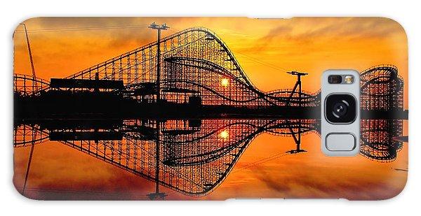 Adventure Pier At Sunrise Galaxy Case by Nick Zelinsky