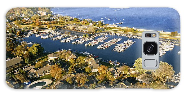 Aerial Of The Abbey Harbor - Fontana Wisconsin Galaxy Case