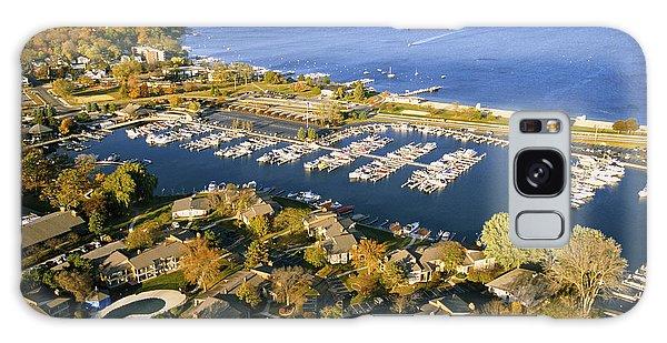 Aerial Of The Abbey Harbor - Fontana Wisconsin Galaxy Case