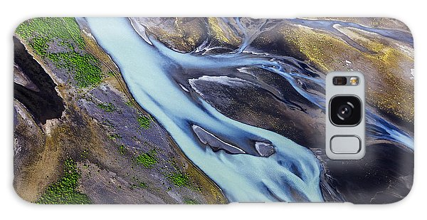 Aerial Photo Of Iceland  Galaxy Case by Gunnar Orn Arnason