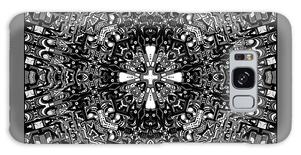 Galaxy Case featuring the digital art Aerial View Kaleidoscope Black And White by Joy McKenzie