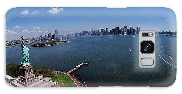 Statue Of Liberty Galaxy S8 Case - Aerial View Of A Statue, Statue by Panoramic Images