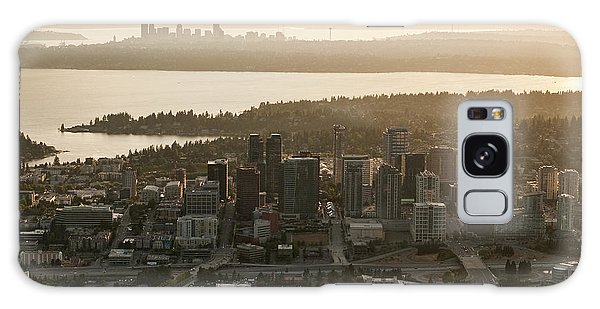 Aerial View Of Bellevue Skyline Galaxy Case