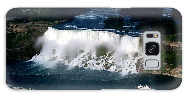 Aerial View Of Niagara Falls And River And Maid Of The Mist Galaxy Case