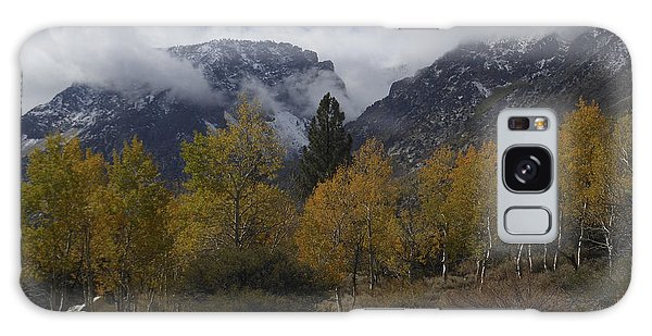 Aerie Crag And Aspen Trees Galaxy Case