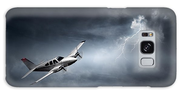 Storming Galaxy Case - Risk - Aeroplane In Thunderstorm by Johan Swanepoel