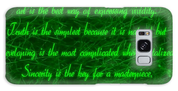 Aesthetic Quote 1 Galaxy Case