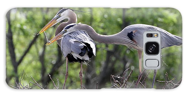 Affectionate Great Blue Heron Mates Galaxy Case