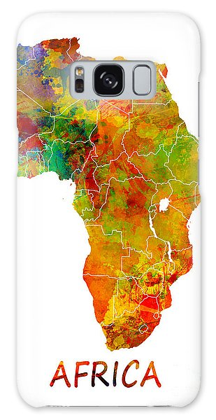 Africa Map Colored Galaxy Case